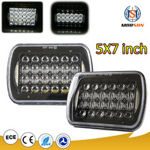 Wholesale 5x7 led headlight for truck 5 x 7 Inch Square Led Headlight square led headlight High/Low Beam With Parking Light