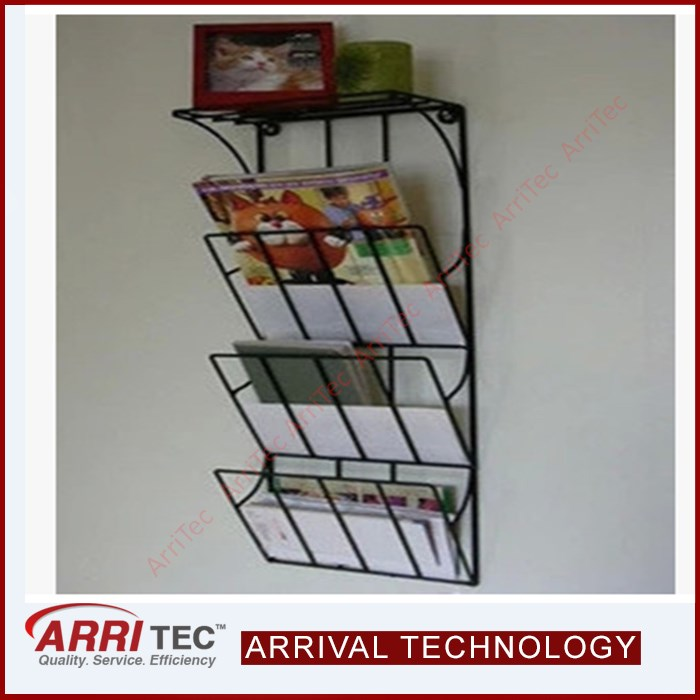wall mounted display A4 magazine brochure holder display