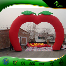 Newest Design Popular Commercial Cheap Apple Modeling Inflatable Arch for Promotion / Event