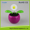 newest Solar flower daisy solar powered swing flip flap dancing flowers, car decorative gift sun doll factory wholesale