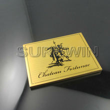 Custom Gold Square Wine Metal Tag/Wine Tag