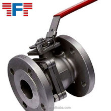 CF8M flange ball valve with handle lever