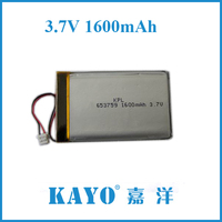PL653759 1600MaH 3.7V lipo battery with IEC62133 and ul 1642 OEM FOR SAMSUNG