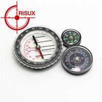 Promotional folding plastic pocket compass