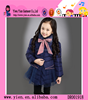 2015 Lovely Princess Lace Keep Warm Coat Wholesale Autumn Winter Hot Fashion Baby Girl Winter Clothes