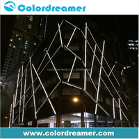 Architectural music activited control rigid rgb dmx outdoor led lighting bar