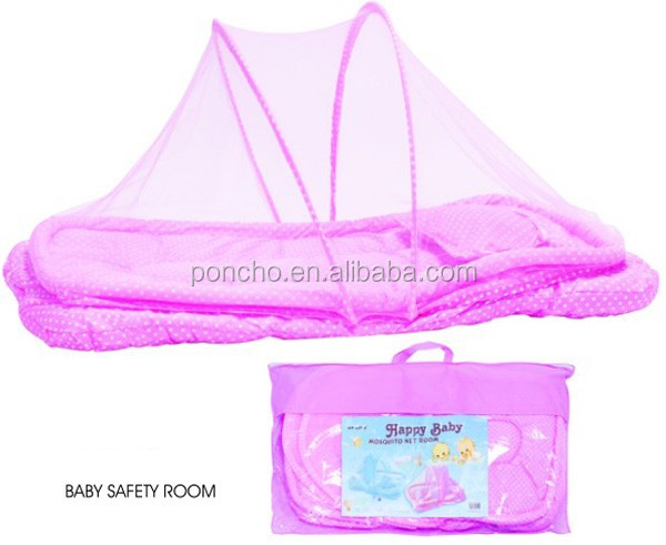 pink/ blue cotton new baby cabas mosquito net