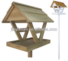 Wooden bird house/ Garden pet house for birds with stand