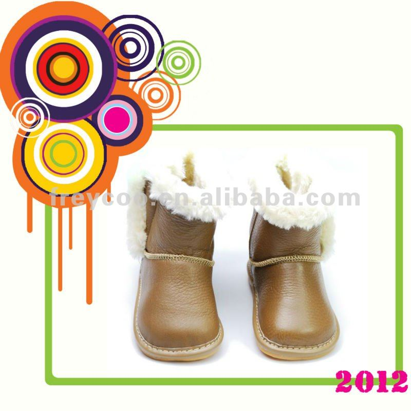 100% Genuine leather children boots PB-6072YB