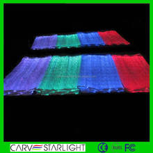LED lighting fiber optical fabric RGB changeable colors neon fabric