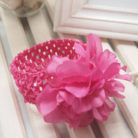 Fancy Baby Flower Crochet Elastic Headband