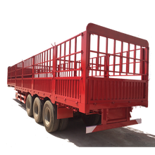 3 Axles High Strength Steel Stake Fence Semi Trailer Truck