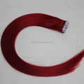 Hair Factory Supply Double Drawn Red Chinese Virgin Tape Hair Extensions