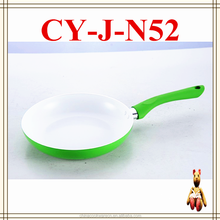 zhejiang promotional king cooker used cooking ceramic induction fry pan with soft touch handle
