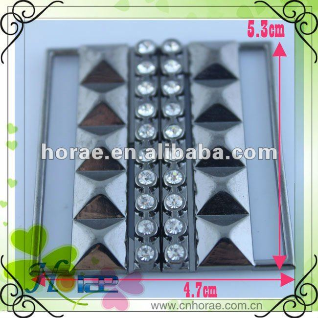 fashion zinc alloy belt buckle with rhinestones