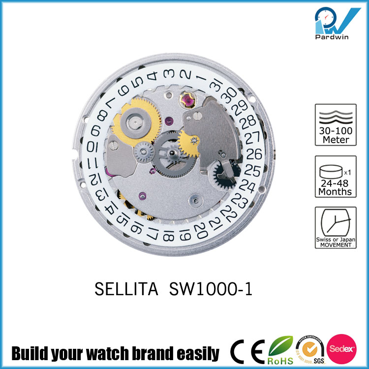 Dust Proof Sellita Movements SW1000-1 with Calendar Long Running Time Watches