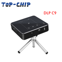 2018 factory direct price Newest Brand C9 DLP Android intelligent projector high-definition home office portable projector