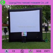 perfprated white inflatable projector screen/perforated automatic plastic window screen