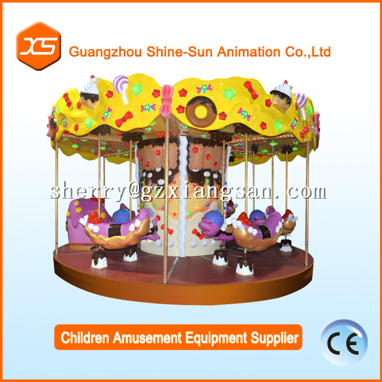 Profitable business ideas Chinese kids games used merry go rounds candy knight carousel for sale