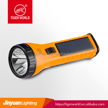 Tiger World new design high quality rechargeable led solar torch