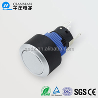 QN22-F3 22mm With lamp Momentary|Latching Flat Head Pin terminal push button switch