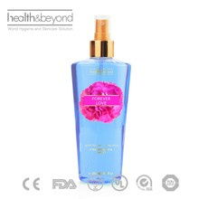 automatic spray fragrance FDA approved body splash 250ml body splash bottle