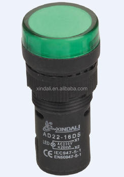 CE ROHS 22mm protected LED indicator lamp/indicator light AD22-22DSN