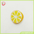 Yellow half lemon soft pu material squishy squeeze fruit slow rising toys