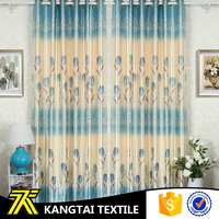 Make to order 100% polyester high quality printed curtain cheap fabric