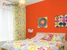 Solid Color Removable Paint Vinyl Self-adhesive Wallpaper(Orange)