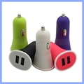 Matte Dual 2 USB Ports Car Charger for iPhone iPad iPod Samsung 5V 3.4A