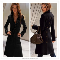 Winter Free Shipping Black Fancy Long Winter Jacket For Women