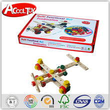 most popular europe product DIY wooden self assemble toy plane