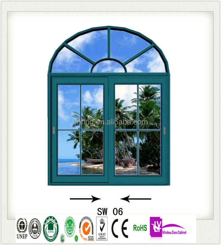 Fixed Arch Windows : List manufacturers of aluminum curved glass arched windows