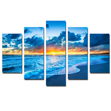 Multi-panel Nautral Design Seascape Picture Art Canvas Print For Living Room Decor
