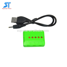 USB type 5 port mini Lipo Battery Charger usb charger for RC drone battery