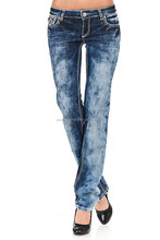 Women's Slim Fit Low Rise Denim Jeans Diamond Details Straight Leg Sex Lady Jeans Sex WomenJeans Pants Pictures