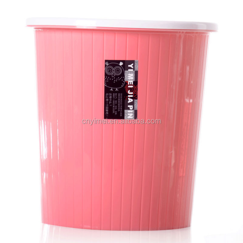 New item Home Plastic round garbage