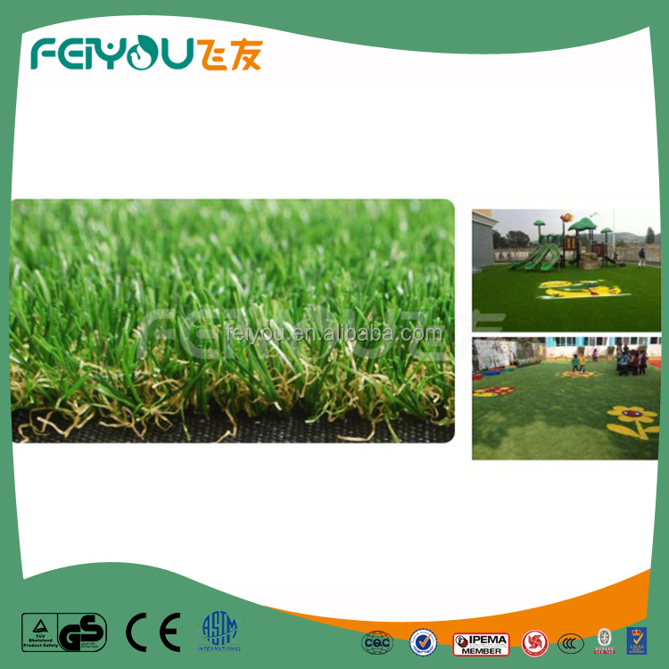 Mixed color cheap artificial grass carpet/artificial grass
