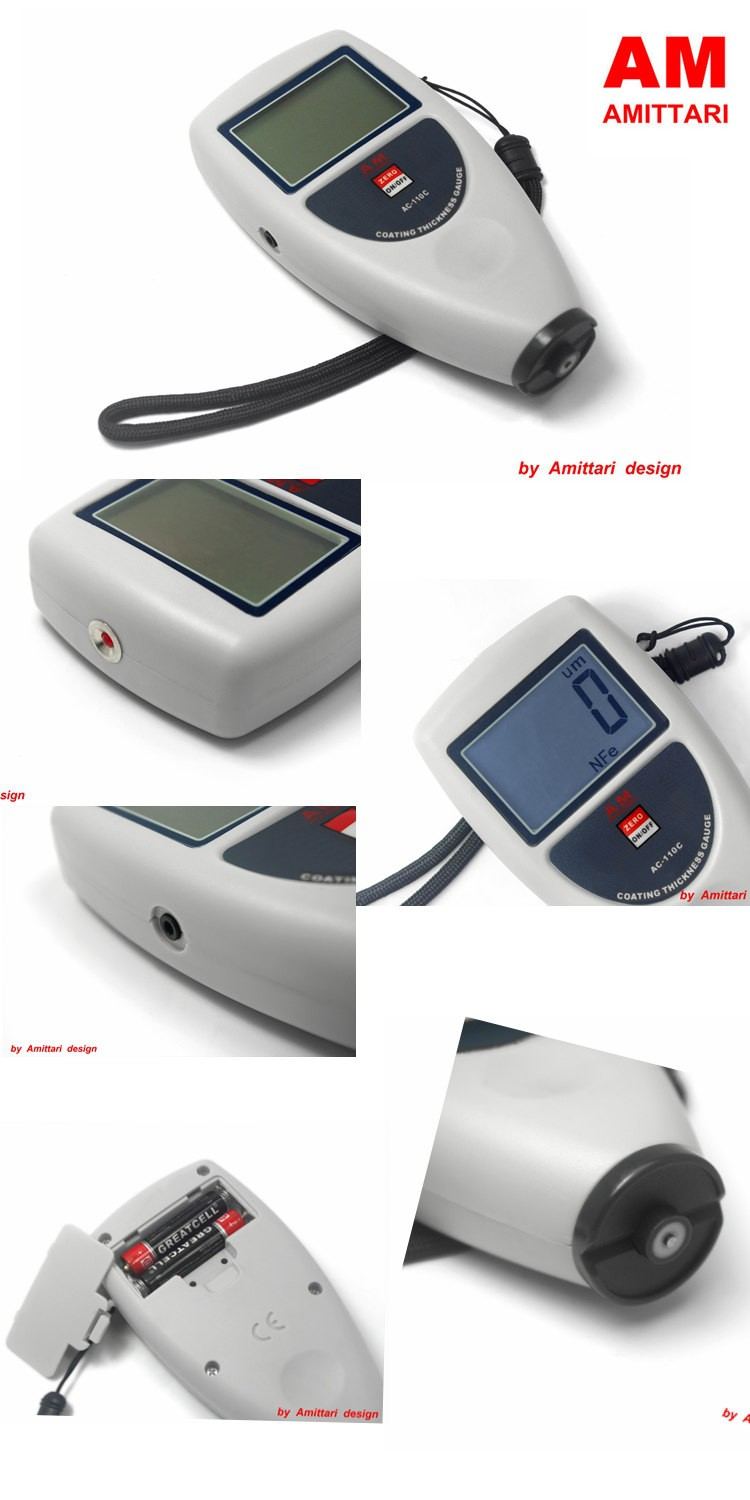 Portable Zinc coating thickness measurement 0~1250um FN Type