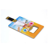 2017 New Credit Card Shape Custom Bottle Opener USB