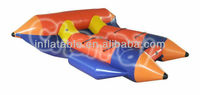 inflatable flying fish boat water game