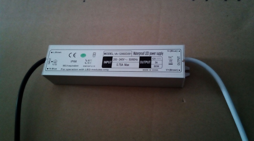 12V 5A 60w led power supply/LED DRIVER constant voltage 12volt , CE, RoHS Compliant