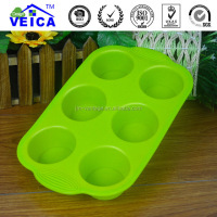 DIY cake tool 6pcs silicone cupcake mould-soft touch, easy using bakeware tool