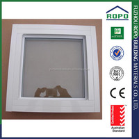 Small square white color aluminum fixed panel window