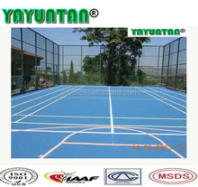 Badminton court flooring material