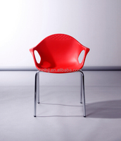 new franch style metal plastic dining chair with arms 1830i