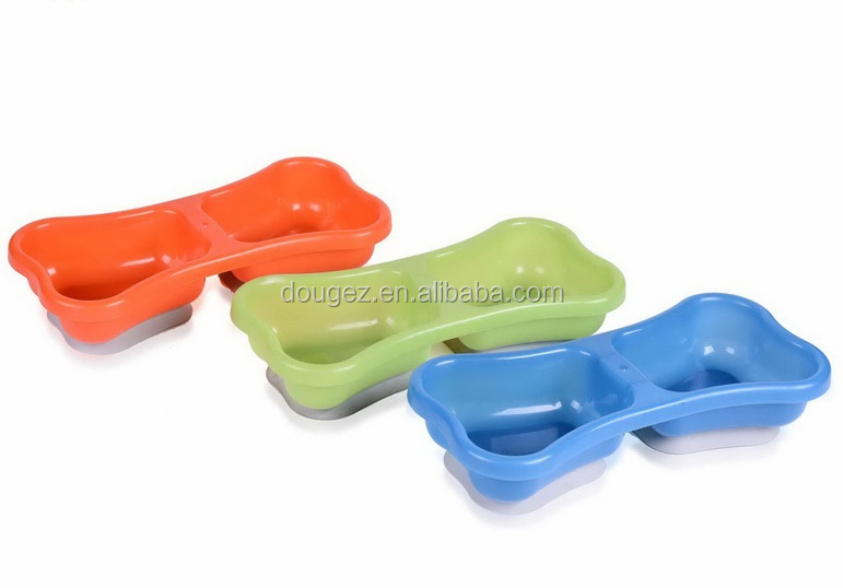 China suppliers wholesale Candy Colored Plastic Pet Food Bowl Dog Bowl