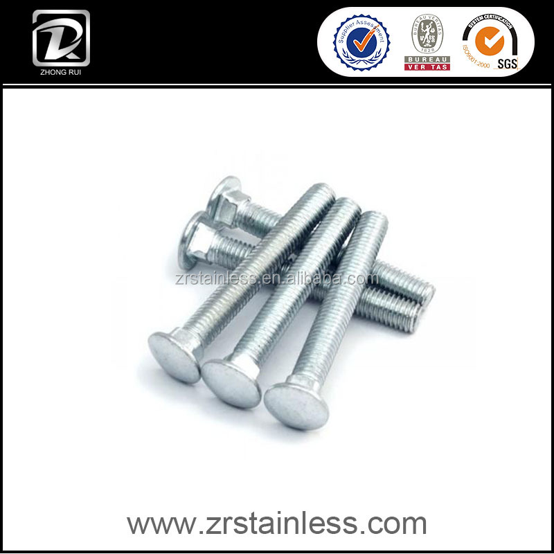 DIN603 M10 Mushroom Head Square Neck Bolt