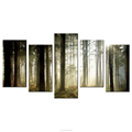 Primeval Forest Landscape Canvas Printing Wall Decoration Canvas Tree Printing Wall Art Multi Panel High Quality Home Goods